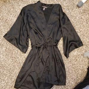 Victoria's Secret Black Slinky Robe